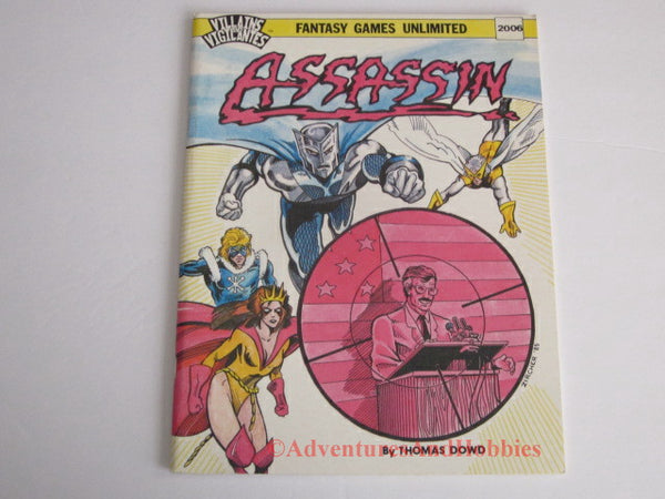 Villains & Vigilantes Assassin Super Hero Adventure 1985 FGU 2006 JS