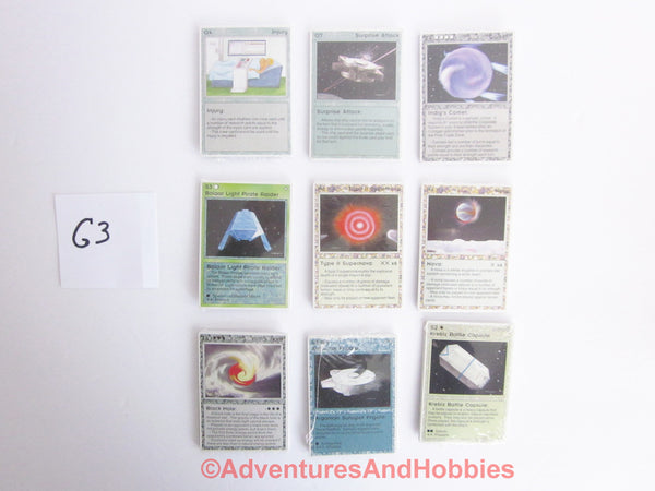 Galactic Empires Alpha Booster Packs Lot of 9 G3 1994 Collectible Card Game CT