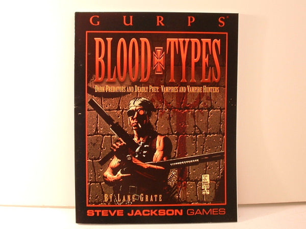 GURPS Horror Blood Types Vampire Sourcebook KB Steve Jackson Games
