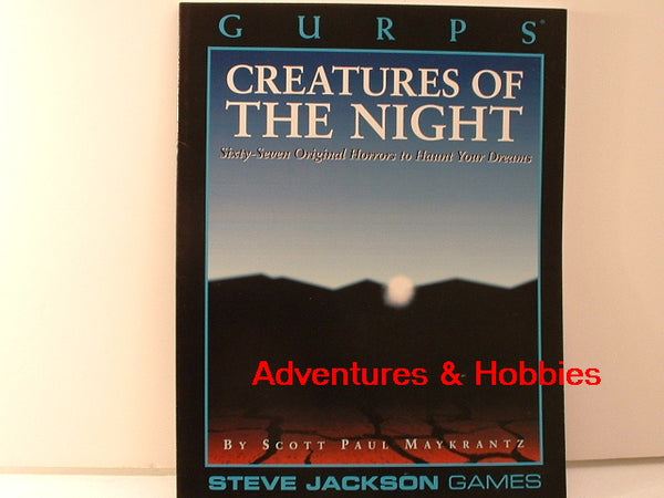 GURPS Creatures of the Night Horror Sourcebook New I6 Steve Jackson