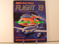 GURPS Flight 13 Horror Space Halloween 1989 OOP J7 Steve Jackson Games