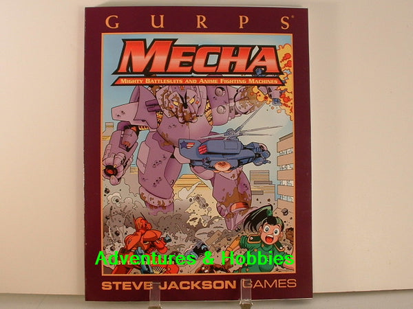 GURPS Mecha Anime Giant Robots New OOP J7 Steve Jackson Games