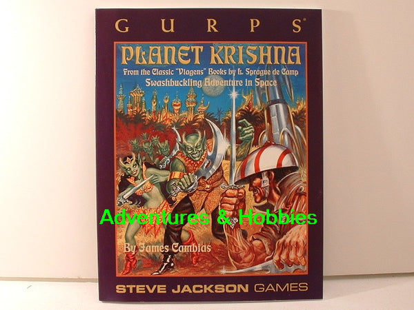 GURPS Planet Krishna Sourcebk New OOP L6 Steve Jackson Games