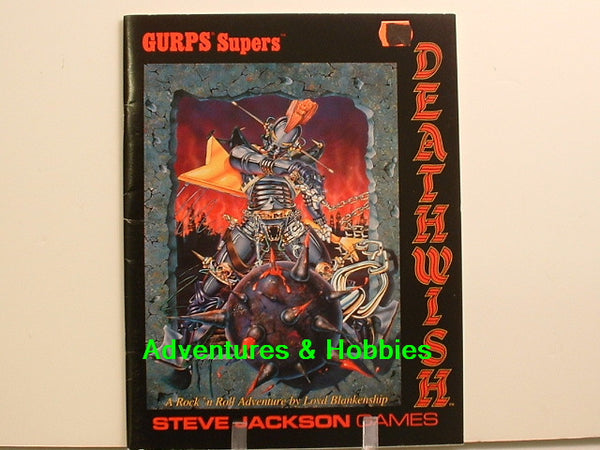 GURPS Supers Deathwish Adventure 1989 Super Hero RPG New OOP J6