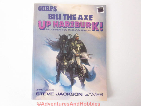 GURPS Fantasy Bili the Axe Up Harzburk! SOLO Adventure SJG 6202 1988 CTh-S