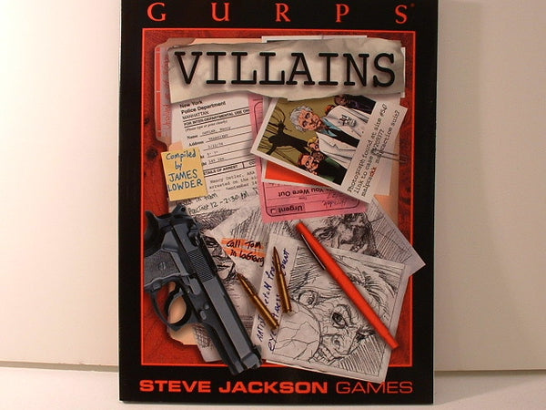 GURPS Villains Sourcebook Modern More New BC Steve Jackson Games