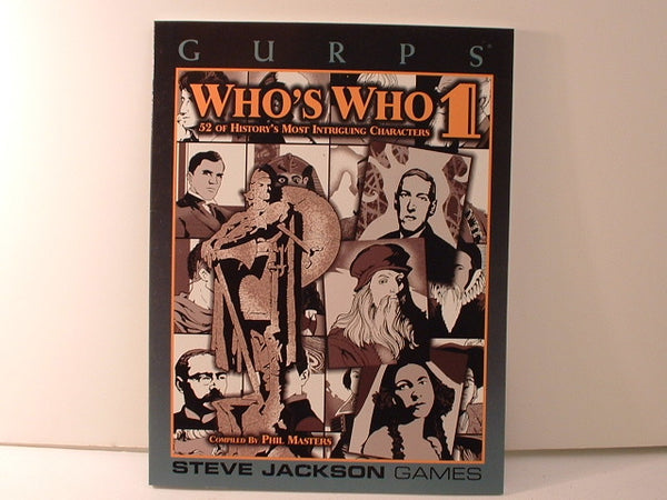 GURPS Who's Who Vol 1 Sourcebook Steve Jackson New OOP K5
