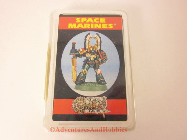 Games Workshop Space Marines Combat Cards New Sealed OOP FB