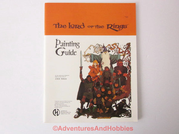 Heritage Models The Lord of the Rings Miniatures Painting Guide 1979 LOTR ET-S