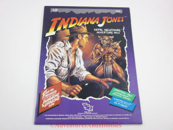 Indiana Jones Nepal Nightmare Adventure Pack IJ5 TSR 6756 1985 AQ