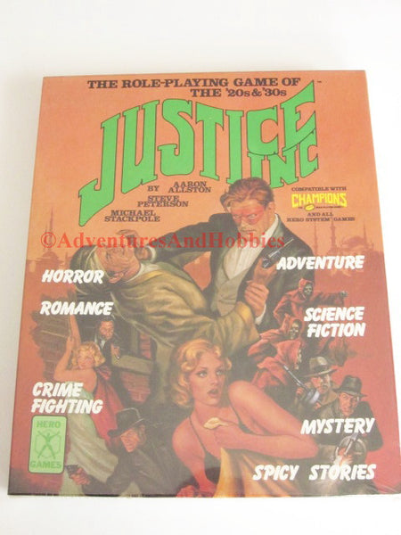 Justice Inc 1920-30s Pulp Super Hero Box Set Hero Games 13B