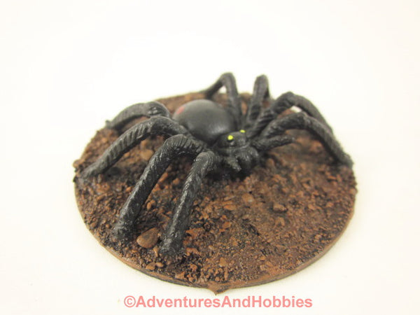 Large Black Spider Monster Miniature M144 Horror Fantasy Painted