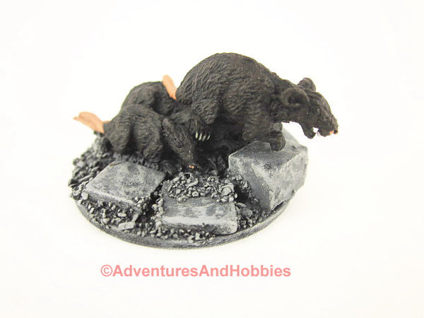 Fantasy Miniature D&D Dungeon Rat Swarm M148 Reaper Painted