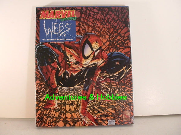 Marvel Super Heroes RPG WEBS Spider-Man Box Set OOP TSR Sealed K7