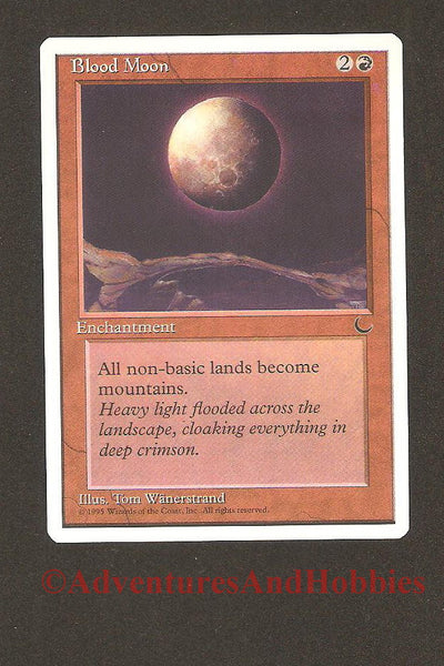 Magic the Gathering MTG Blood Moon Chronicles Light Play EX CCG 158 CR