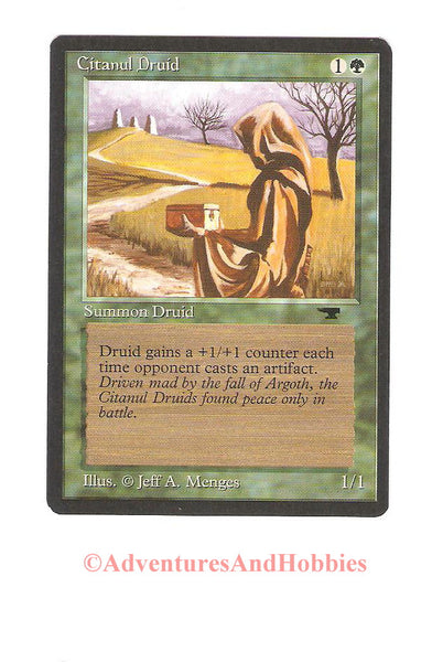 Magic the Gathering MTG Citanul Druid Antiquities Light Play CCG 224DU