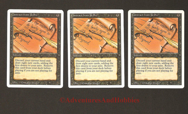 Magic the Gathering MTG Contract from Below Revised Lot x3 Light Play CCG 217AS
