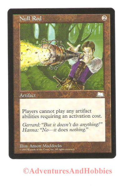 Magic the Gathering MTG Null Rod Weatherlight Light Play CCG 203