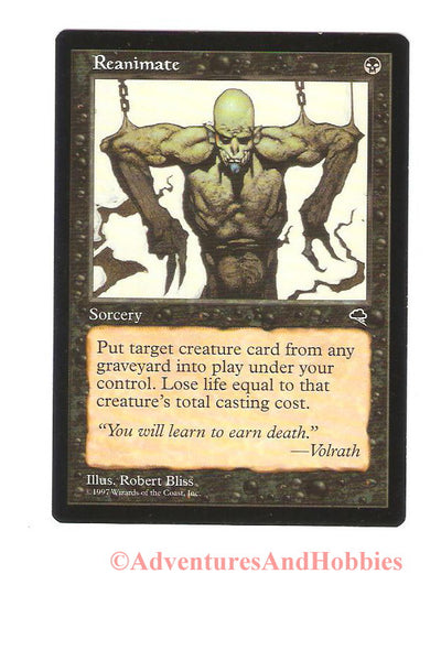 Magic the Gathering MTG Reanimate Tempest Light Play CCG 184HR