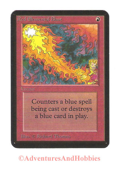 Magic the Gathering MTG Red Elemental Blast Alpha Moderate Play CCG 163 DR-D