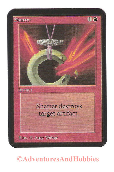 Magic the Gathering MTG Shatter Alpha Light Play CCG 197
