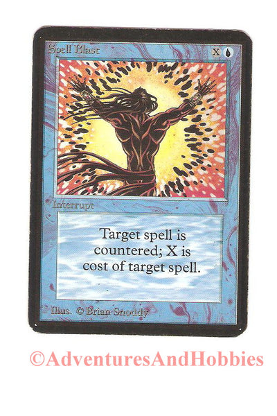 Magic the Gathering MTG Spell Blast Alpha Moderate Play