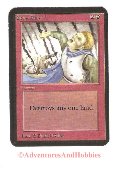 Magic the Gathering MTG Stone Rain Alpha Moderate Play CCG 200