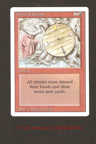 Magic the Gathering MTG Wheel of Fortune Revised Light Play EX CCG 159 CR