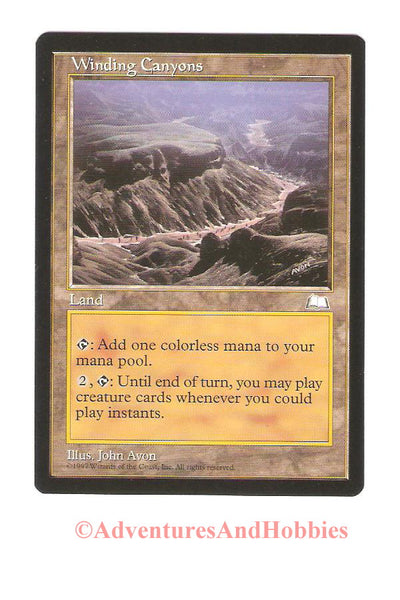 Magic the Gathering MTG Winding Canyons Weatherlight Light Play CCG 178