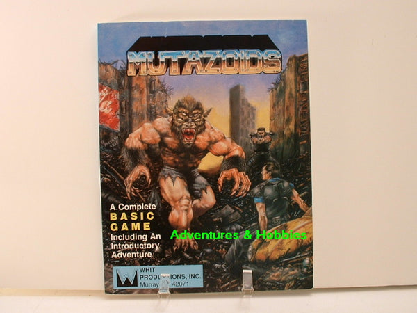 Mutazoids Basic Rulebook Science Fiction RPG New 1989 D8