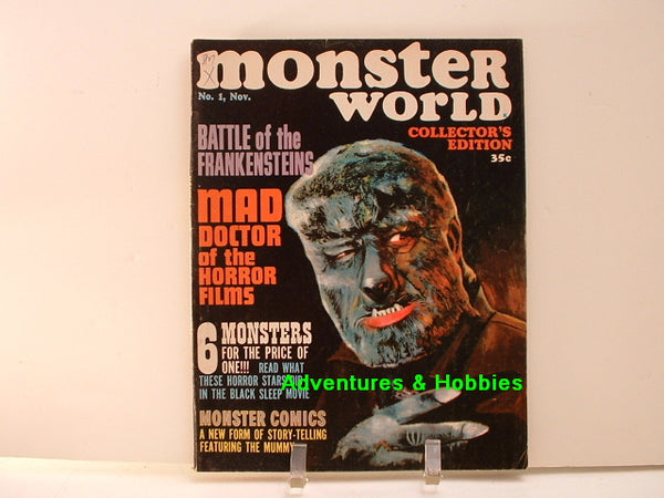 Monster World #1 Premiere Issue Mummy Horror 1964 F8