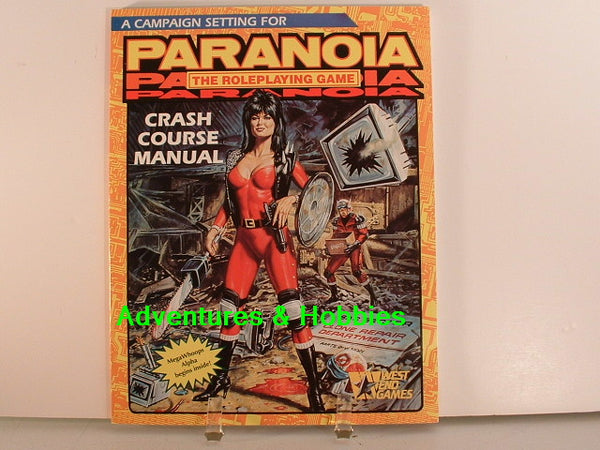 Paranoia Crash Course Manual Campaign 1989 New L7 West End Games