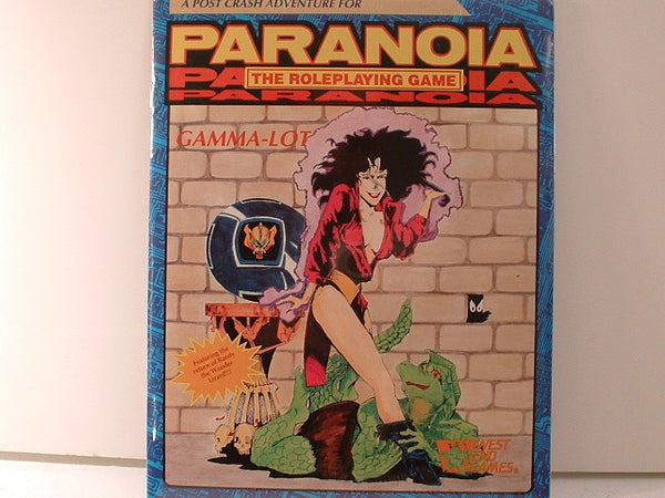 Paranoia Gamma-Lot Adventure OOP New DB West End Games