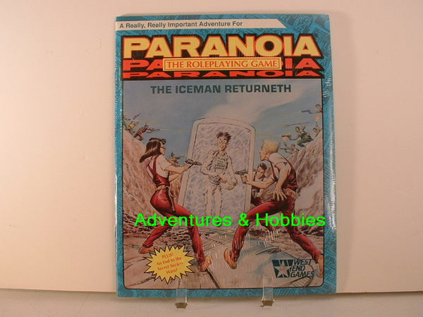 Paranoia The Iceman Returneth West End Games 1989 New OOP L7
