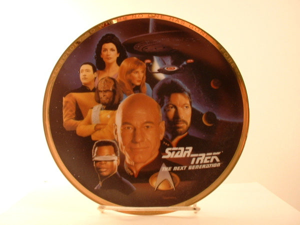 "Star Trek:TNG 8"" Plate The Enterprise Crew Limited Edition Numbered OOP IA"