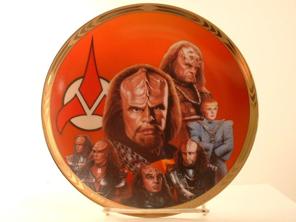 "Star Trek:TNG 8"" Plate Redemption Episode Klingons Hamilton Limited Edition IA"