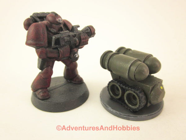 Science Fiction Miniature Robot Tracked Cargo Bot R122 25-28mm 40K