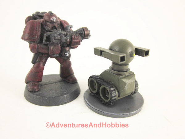 Science Fiction Miniature Robot Tracked Warbot Drone R125 25-28mm 40K