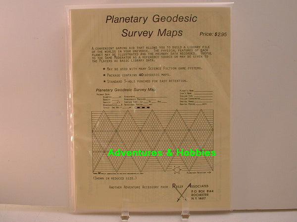 Planetary Geodesic Survey Maps 1980 Reilly Associates Traveller G8