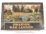 Fantasy minniature dwarven war cannon and crew Reaper 10008 for 25mm table top war games.