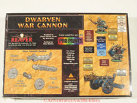 Fantasy Miniature Dwarven War Cannon Reaper 10008 Box Unpainted D&D 25mm