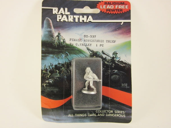 Fantasy Miniature Female Adventurer Thief Ral Partha 02337 Unpainted