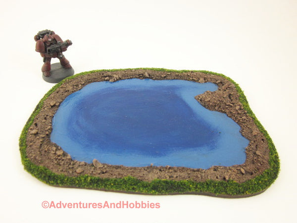 Wargame Terrain Small Water Pond 15 to 28 mm Scale S167 Scenery 40K