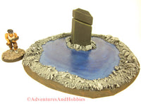 Call of Cthulhu Monument in Pool S170 Terrain for 25-28mm scale miniature war games and role-playing games.