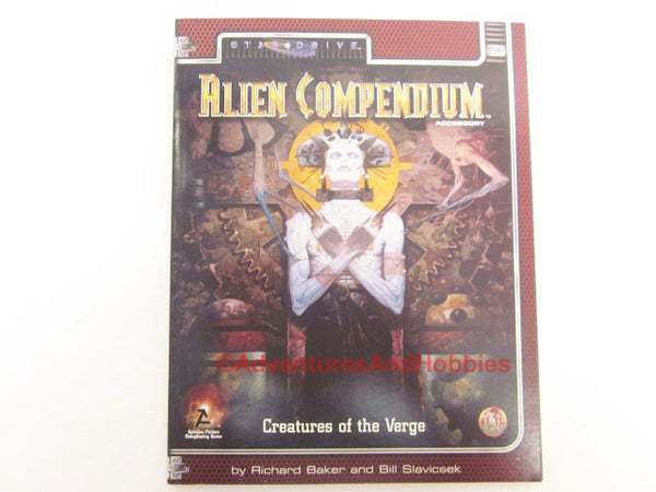 StarDrive Alien Compendium Creatures of the Verge Alternity TSR 1998 HTv-D