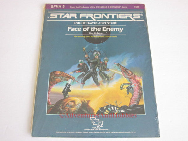 Star Frontiers Face of the Enemy Knight Hawks SFKH3 In Shrink TSR 7810