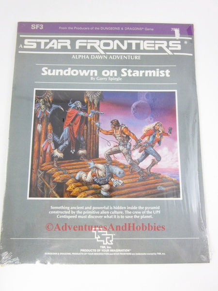 Star Frontiers Sundown on Starmist TSR 7803 1983 FC Sealed Shrinkwrap