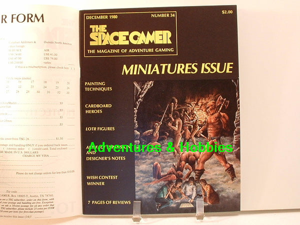 Space Gamer 34 1980 Painting Miniatures Artifact Timothy Zahn BD