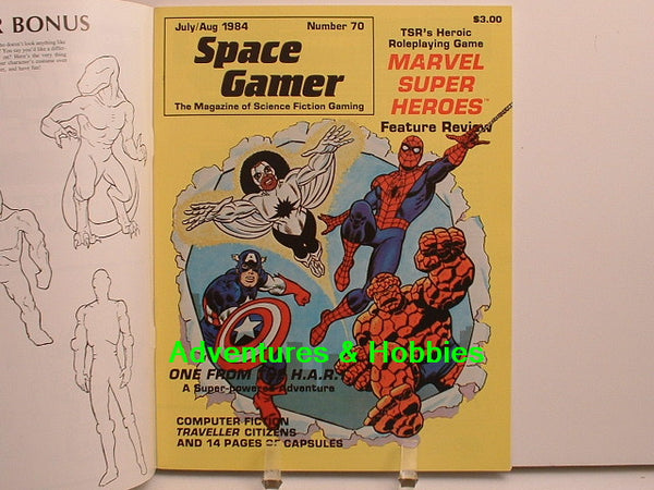 Space Gamer #70 Traveller Super Heroes 1984 OOP G8 Steve Jackson