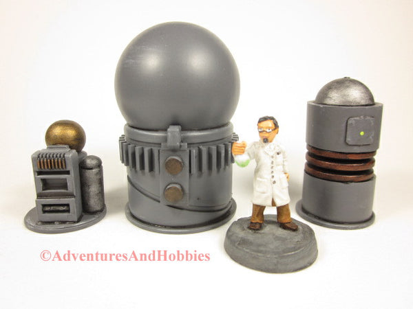 Miniature Game Terrain Mad Science Set of 3 SL06 Lab Industrial 25-28mm 40K